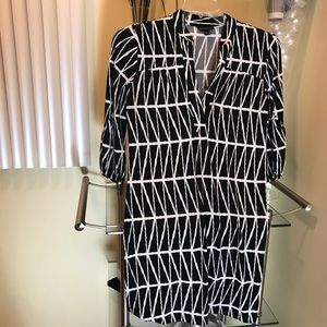 BANANA REPUBLIC tunic dress long sleeves stretch